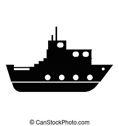 Ship icon, simple style