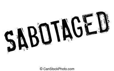 Sabotaged rubber stamp. Grunge design with dust scratches....