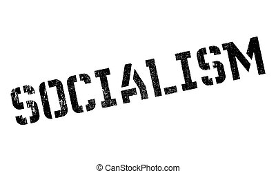 Socialism rubber stamp. Grunge design with dust scratches....