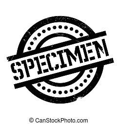 Specimen rubber stamp. Grunge design with dust scratches....