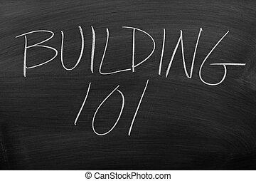 Building 101 On A Blackboard
