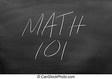 Math 101 On A Blackboard
