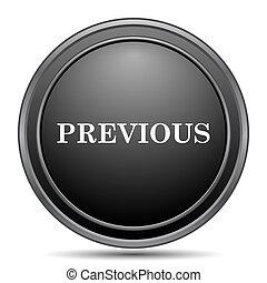 Previous icon, black website button on white background.