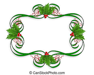 Christmas Border holly