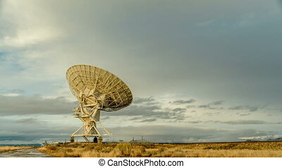 Radio Telescope Searches Sky - Time-lapse of a radio...