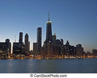 Downtown Chicago Night