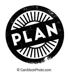 Plan stamp rubber grunge - Plan stamp. Grunge design with...