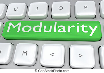 Modularity - technological concept - 3D illustration of...