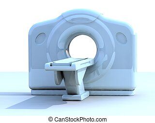 3d render ct or cat scanner - 3d render of a computed axial...