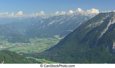 Obersalzberg - Time lapse clouds over Alps, view from Mount...