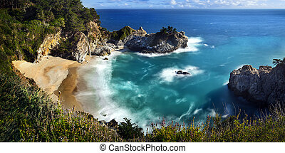 McWay Falls is an 80 feet waterfall that flows year-round...