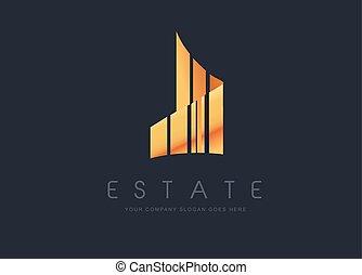 Real Estate Gold Design Building - Real Estate Gold Logo...