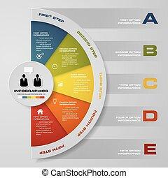 5 steps infographis elements.Vector illustration. EPS10.