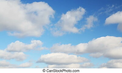 Beautiful Blue Sky and Clouds Loop - 1 minute footage loop...