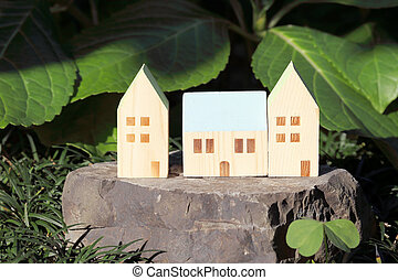 Miniature model of house