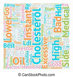 lower cholesterol level 1 text background wordcloud concept
