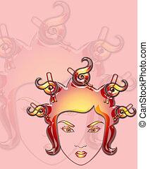 illustration of  girl
