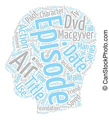 Macgyver DVD Review text background wordcloud concept