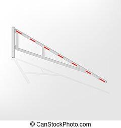 Mechanical barrier isometric, vector illustration. -...