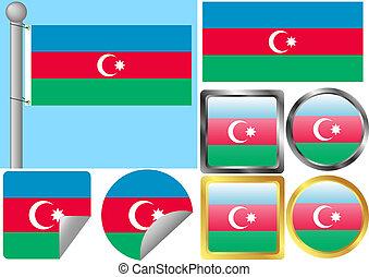 Flag Set Azerbaijan