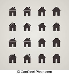 Set of house icons, vector illustration