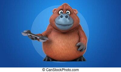 Fun orangoutan - 3D Animation