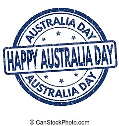 Australia day sign or stamp