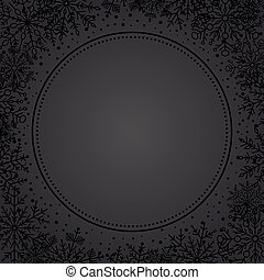 Winter Vector Greeting Card - Winter vector dark frame with...