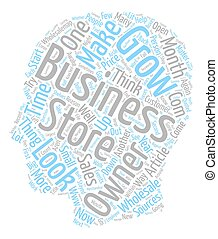 Make Your Business Grow text background wordcloud concept