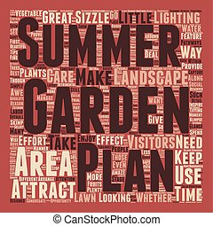 Make Your Summer Garden Sizzle text background wordcloud...