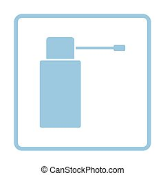 Inhalator icon. Blue frame design. Vector illustration.