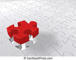 puzzle piece coming down into last free place