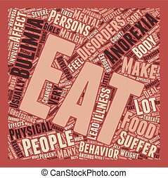 Malign Effects of Anorexia and Bulimia text background...