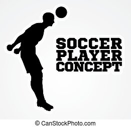 Silhouette Football Player Concept - A stylised illustration...