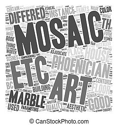 Marble Mosaic Art text background wordcloud concept