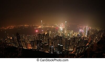 Hong Kong time lapse - Wide angle time lapse of Hong Kong...