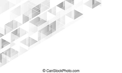 Grey white tech polygonal video animation - Grey white tech...