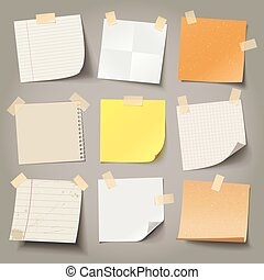 Collection of various note papers, ready for your message -...