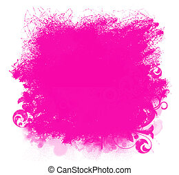 Pink Grunge Paint Smear Background - Grunge pink paint...