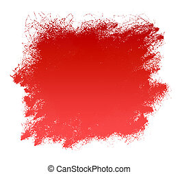 Red Grunge Paint Smear Background - Grunge red paint spatter...