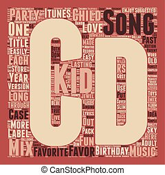 Mix CD A Unique Kids Birthday Party Favor text background...
