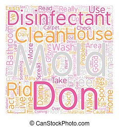 Mold Disinfectant text background wordcloud concept