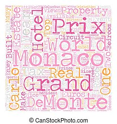Monaco Grand Prix May 28 text background wordcloud concept