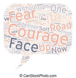 Moral Courage text background wordcloud concept
