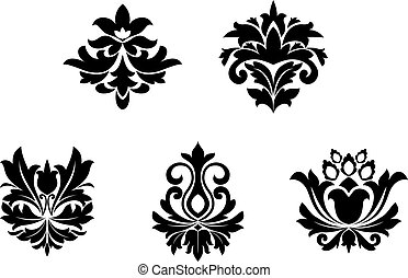 Flower patterns for design and ornate isolated on white