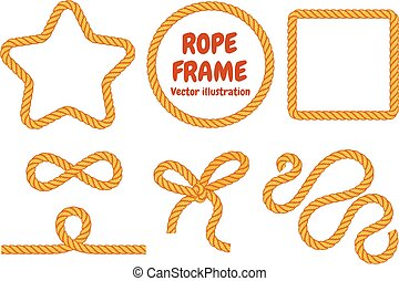 Different frame ropes. Top view. Vector illustration....