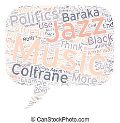 Music and Politics text background wordcloud concept