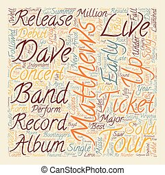Music Artist Dave Matthews Band Bio text background...