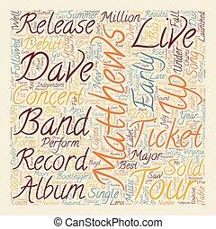 Music Artist Dave Matthews Band Bio text background...