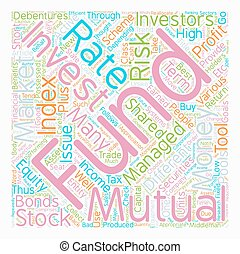 Mutual Funds How To Invest And Profit From Them text background wordcloud concept